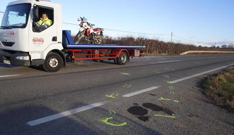 Un motorista va perdre la vida l'11 de gener a Artesa de Lleida.