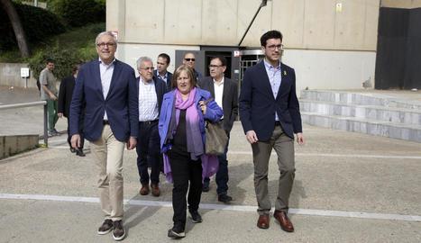 Ramona Barrufet, ahir, a l'arribar als jutjats de Lleida.