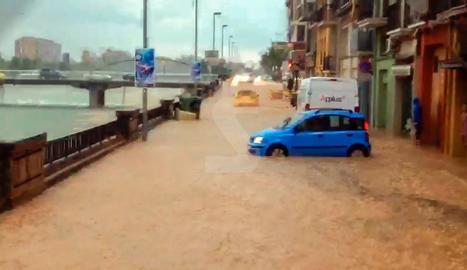 Imatges de les inundacions a Balaguer del passat dilluns 20 de maig de 2018