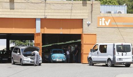 Imatge presa ahir del recinte de l'estació d'ITV situada al polígon El Segre.