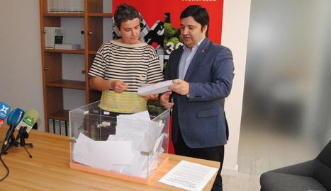 El sorteig dels 3.000 euros es va portar a terme davant de notari.