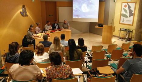 La taula redona sobre innovació empresarial, ahir, a Lleida.