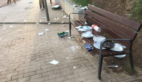 Acumulació de deixalles a Santa Cecília