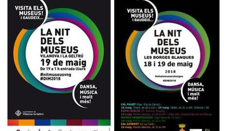Cartells de la Nit dels Museus de Vilanova i de les Borges.