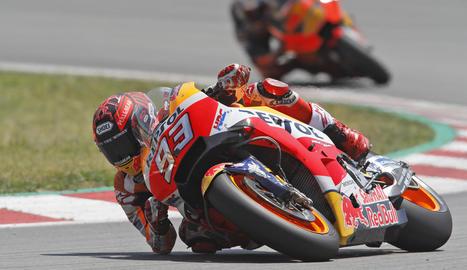 Marc Màrquez completa el test a Montmeló en setena posició