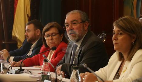 Un moment del ple de la Diputació de Lleida d'aquest mes de maig.
