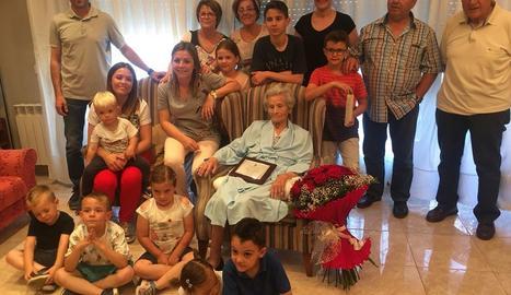 Dolors Sisó va estar acompanyada per bona part de la seua família.