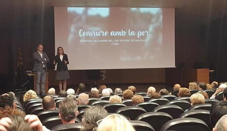 Presentació del documental a l'ajuntament de Balaguer.