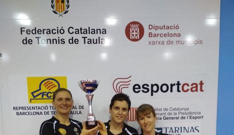 Els integrants del DKV Borges, a dalt de tot del podi del Català que es va disputar ahir.