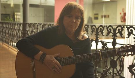 Maria del Mar Bonet, una de les poques cantants de l'època.