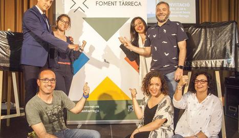 El Mag Lari, amb part del grup de treball de Foment Tàrrega.