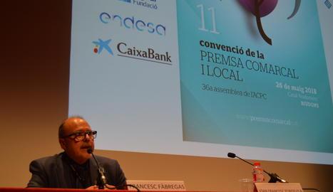 Francesc Fàbregas, president de l'ACPC, durant l'assemblea.