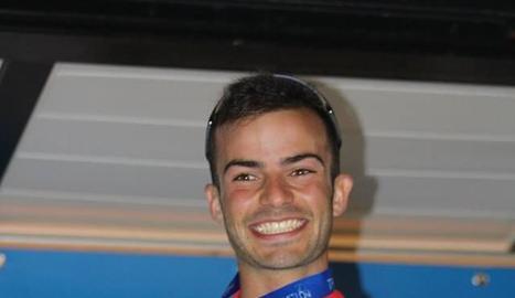 Jordi Montraveta, amb la medalla d'or a l'Estatal.