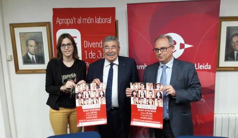 La Cambra de Comerç de Lleida va presentar ahir la segona edició del 'Jovullser'.
