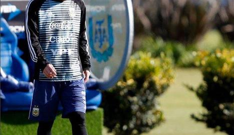 Leo Messi, durant la concentració de l'Argentina a Buenos Aires.