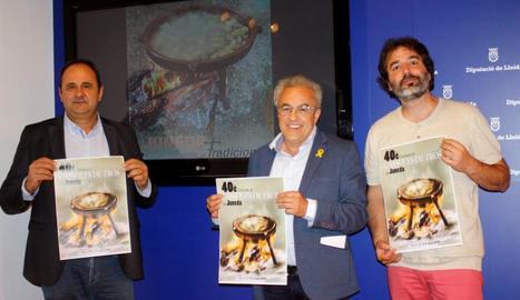 Presentació del cartell del concurs, ahir a la Diputació de Lleida.