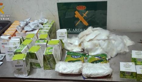 La Guàrdia Civil va confiscar 24 quilos de cocaïna.