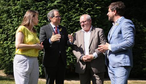 El president de la Generalitat, Quim Torra, a Brussel·les aquest dimecres amb