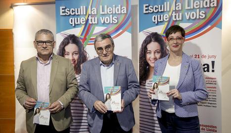 Ros, Gómez i Ribes, a la presentació d'ahir.
