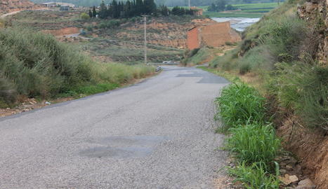 Un dels tres camins que es reformaran a Aitona.