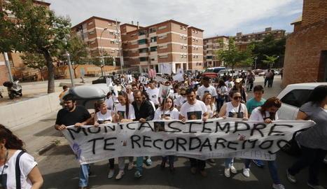 Manifestació després de l'assassinat de la jove de la Mariola el 2015.