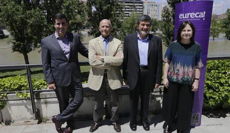 Membres del centre tecnològic Eurecat, ahir a Lleida.