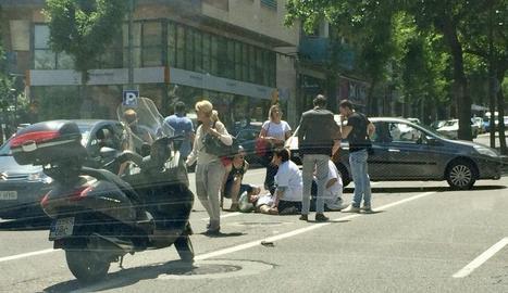 El motorista accidentat ahir a Prat de la Riba.