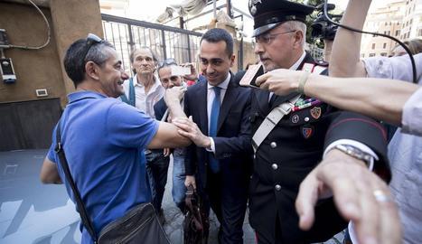 El líder de la Lliga, Matteo Salvini, arriba a la Cambra Baixa de Roma.