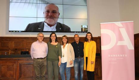 El ja exconseller Lluís Puig va intervenir per videoconferència.
