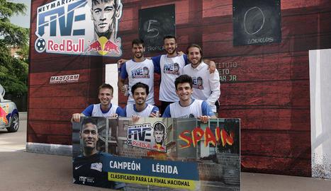 L'equip que representarà Lleida a la fase estatal de Madrid.