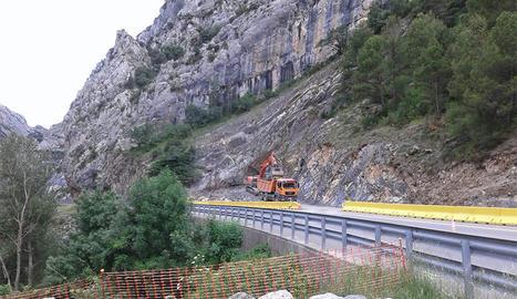 Els treballs de perforació del túnel de Tres Ponts.