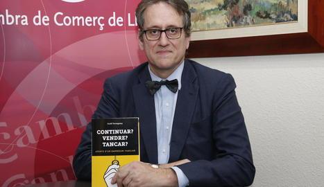 Jordi Tarragona durant la presentació del llibre a Lleida.