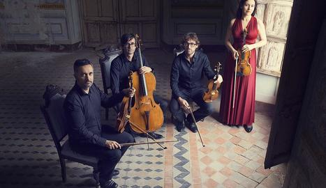 Imatge promocional del Quartet Teixidor.