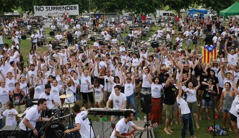 Participants l'any passat a la primera edició del No Surrender Festival a Vilanova de Bellpuig.