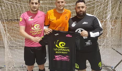 El porter Marc Palau, primer fitxatge de Lo Caragol per a la temporada que ve.