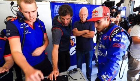 Marc Màrquez va deixar impressionats els membres de Toro Rosso amb els temps.
