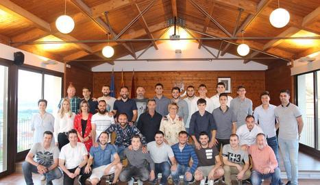 Recepció oficial a l'Sporting de Pinyana pel títol i ascens