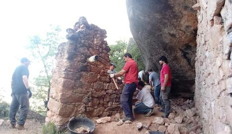 Participants en el curs per recuperar aquestes edificacions.