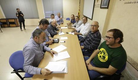 La reunió celebrada ahir al consell de les Garrigues.