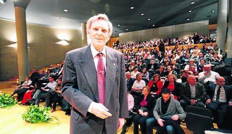 Astudillo, durant l'homenatge que va rebre el 2012 a l'Auditori.