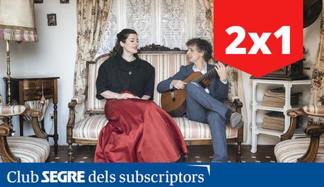 La soprà Maria Hinojosa i el guitarrista Eduard Iniesta.
