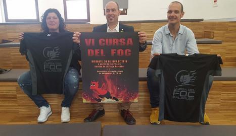 L'organització va presentar ahir la sisena Cursa del Foc de Balaguer.