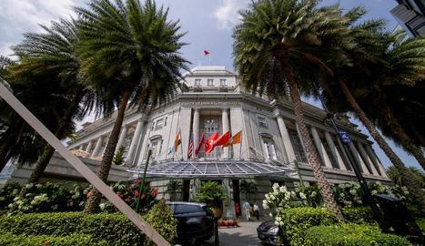 Imatge de l'hotel on se celebrarà la cimera, a Singapur.