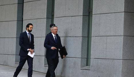 L'expresident madrileny Alberto Ruiz-Gallardón, arriba a l'Audiència Nacional per declarar.