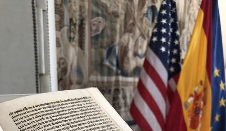 Imatge de la carta en què Colom narra als Reis Catòlics el descobriment d'Amèrica.