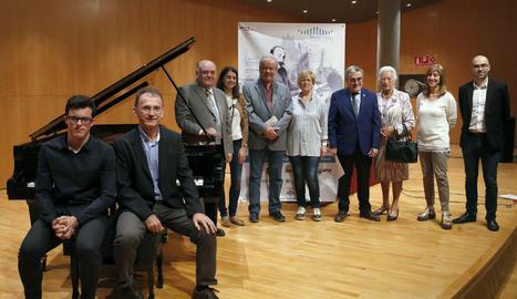 L'acte de presentació de la 23a edició del Concurs Internacional de Piano Ricard Viñes.