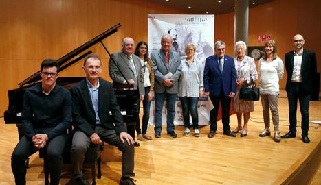 La presentació del Concurs Internacional de Piano Ricard Viñes va tenir lloc ahir a l'Auditori.