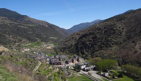 Vista panoràmica de Rialp, al Pallars Sobirà.