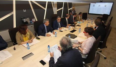 Un instant de la reunió de la Fira, ahir a Mercolleida.