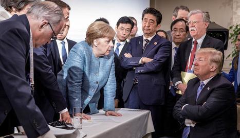 Trump torpedina 'in extremis' la cimera del G7 i deixa en suspens el fràgil acord comercial